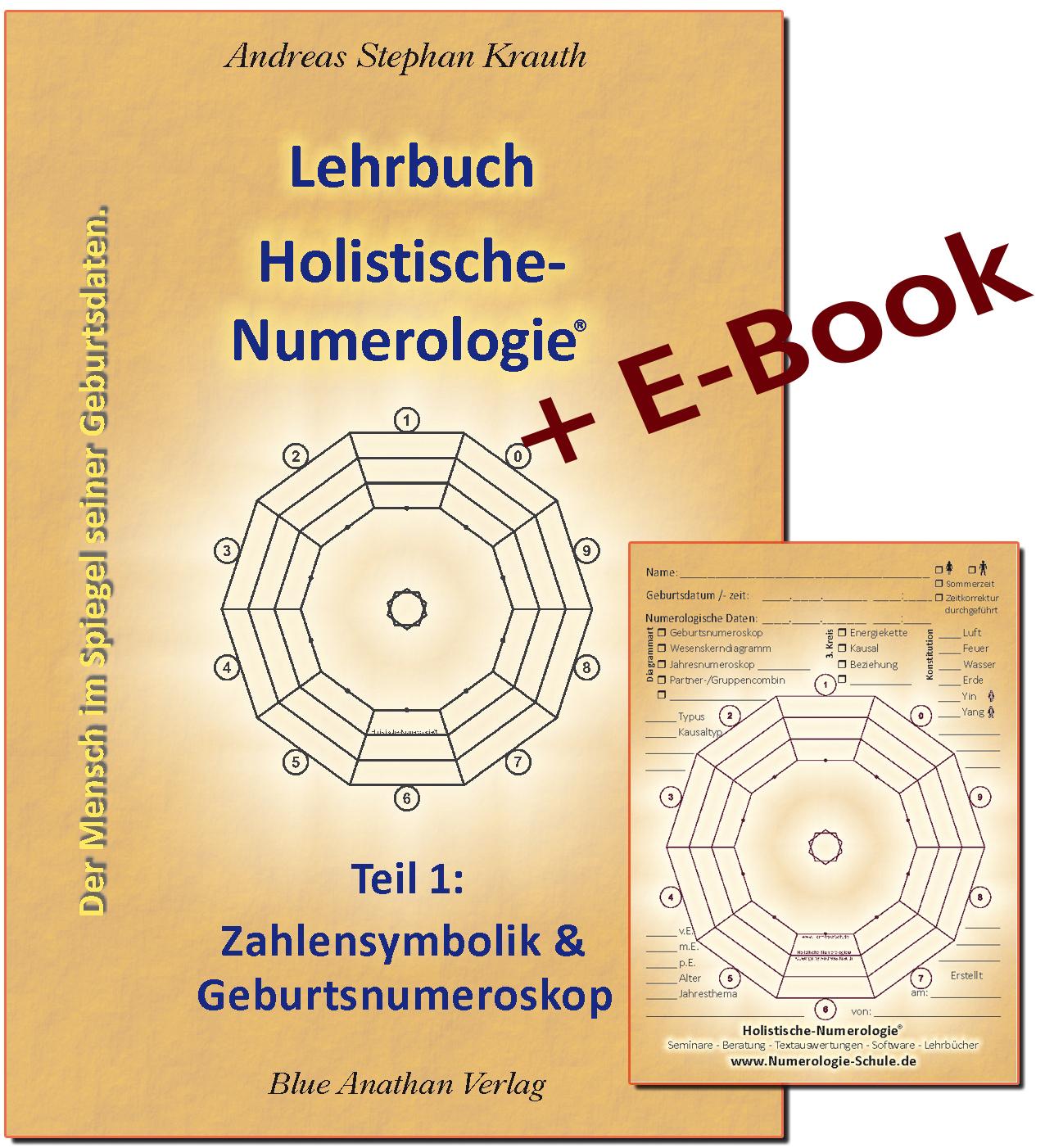 Numerologie Lehrbuchbuch Teil 1 Set: Buch + Block + PDF-EBook